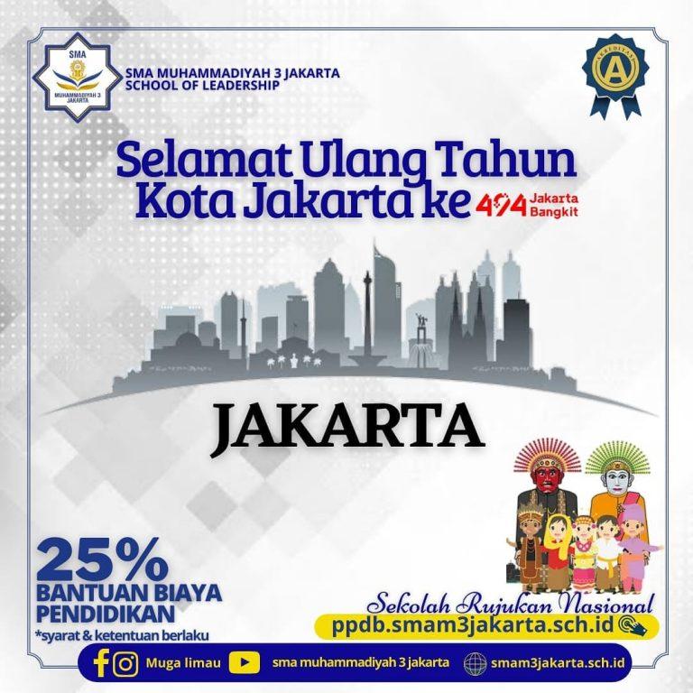 Selamat Ulang Tahun Jakarta